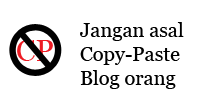 jangan asal copy paste